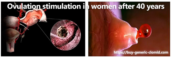 Ovulation stimulation in women after 40 years