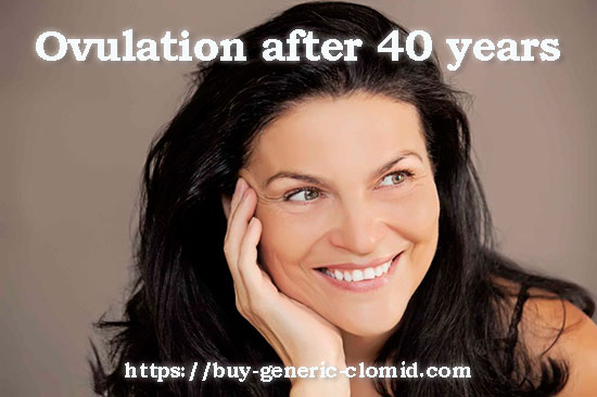 Ovulation after 40 years